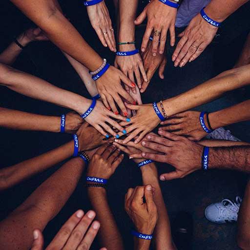 Imagem de união (mãos unidas)